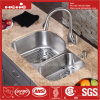 31-1/2 X 20-1/2 Inch Stainless Steel Under Mount Double Bowl Kitchen Sink