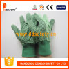 Ddsafety 2017 Canvas Cotton Dots on Palm Garden Safety Gloves