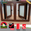 Wood Look UPVC Glass Casement Windows