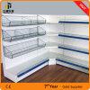 Supermarket Gondola Metal Display Stand Corner Shelf
