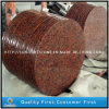 Polished Natural G562 Maple Red Granite Stone Round Dining Table Top