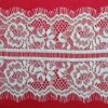 Fashion Ivory White Net Ladder Eyelash Lace Fabric for Garment & Bag & Shoes & DIY Craft