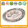 Round Metal Tin Serving Tray