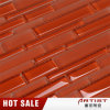 Red Color Beveled Glass Mirror Mosaic Tile
