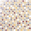 Crystal White Glass Mosaic Floor Tiles