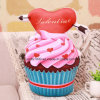 Ice Cream Shaped Soft Toy Pillow with Heart