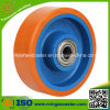 "Steel Ball Bearing 6"" Polyurethane Caster, Cast Iron Wheel"