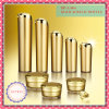 Golden Acrylic Bottle and Jar, 50g Skin Care Bottle Packaging, 30g Round Plastic Cosmetic Container, 15g Packaging Container, 5g Plastic Acrylic Jar