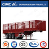 Double-Stake Cargo Semi Trailer with Gooseneck