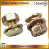 Yellow Zinc Plated Carriage Bolt with Nut and Washer Assembled