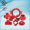 UL Listed, FM Approval Ductile Iron Grooved Mechanical Tee 168.3*88.9