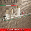 1200 Bathroom Glass Shelf with Chrome Plate Brass Bracket