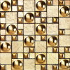 Foshan Mosaic Golden Glass Art Mosaic (VMW3502)