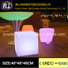 16 Colors Changing PE Material LED Cube Chair