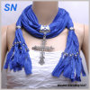 2014 Lady′s Fashion Pendant Scarf