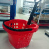 Apple Type Plastic Basket with Two Wheels Zhejiang Manufacturer
