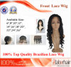 "Brazilian Virgin Hair Front Lace Wigs (24"" Inch-Deep wave)"