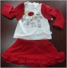 Girl's 3 PCS Set Children Clothing with Top, Coat and Skirt (YHR-K13010)