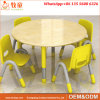 Wood Children 4 Seats Round Table and Chairs for Early Childhood Centre