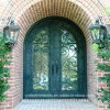 Round Top Double Entry Wrought Iron Door (UID-D017)