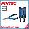 "Fixtec 6"" CRV Metal Pliers Flat Nose Cutting Pliers"
