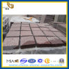 Bush-Hammed Red Granite Square Stone Pavers (YQZ-PS)