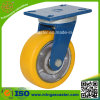 High Quality PU on Cast Iron Wheel Caster
