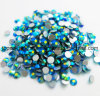 Non Hot Fix Nail Art Crystal Blue Zircon Ab Rhinestones Ss4 Ss6 Ss8 Ss30 Strass for Wedding Dress (FB-Blue zircon AB/3A)