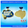 Smooth Surface Vivid Logo Sport Medal with Plain Ribbon