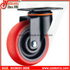 Medium Duty Swivel Caster with Red TPU Wheel