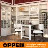 Oppein Porvoo Modern Matte Lacquer Open Wine Cabinet (JG91516)