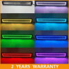 for Jeep Wrangler 52inch LED Light Bar Halo Ring 288W RGB Control Light Bar Car Accessories
