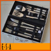 2015 Hand Tool Stainless Steel BBQ Utensil Set for Sale, Cheap Kitchen Hand Tool Set for BBQ, Aluminum BBQ Set with 10 PCS T39A004