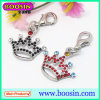 Fashion Alloy Rhienstones Metal Crown Charm Wholesale