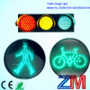 En12368 Approved 12 Inch High Flux LED Flashing Traffic Light / Traffic Signal with Clear Cobweb Lens