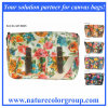 Flower Print Satchel Bag with PVC Coating for Spring Fashion