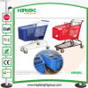 Plastic Supermarket Plastic Metal Shopping Trolley Cart
