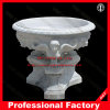White Marble Carved Marble Flowerpot for Garden Decoration