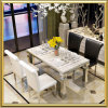 Stainless Steel Luxury Dining Room Marble Table and Chair Set