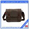 Retro Messenger Shoulder Bag High Density Canvas Top Quality Genuine Leather (MSB-025)