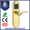 Brushed Golden Smart Hotel Door Lock with RFID Reader