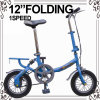 12 Inch Hi-Ten Steel Folding Bicycle for Kids and Adult (YW-1203S)