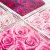 Luxury Romantic Clear Acrylic Plastic Rose Flower Box