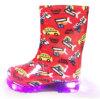 Children Ankel LED PVC Boots Fashion Clear Kids Rain Boots