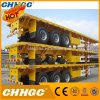 3 Axles Flatbed Container Carrier Semi Trailr for Sale
