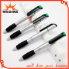 Silver Plastic Ballpoint Pen with Highlighter for Promotion (BP0212S)