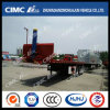 Cimc Huajun 40FT Flatbed Tipping Trailer with Hydraulic Cylinder
