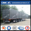 Cimc Huajun Tri-Axle Van/Box Semi Trailer with 5 Open Doors