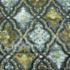 Floral Design Sequin Embroidery Fabric on Tulle