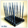 Stationary 12 Bands Jammer for All 3G 4G Cellphone, Car Remote Control, VHF/UHF Radio, GPS, Wi-Fi Jammer Cpjx12
